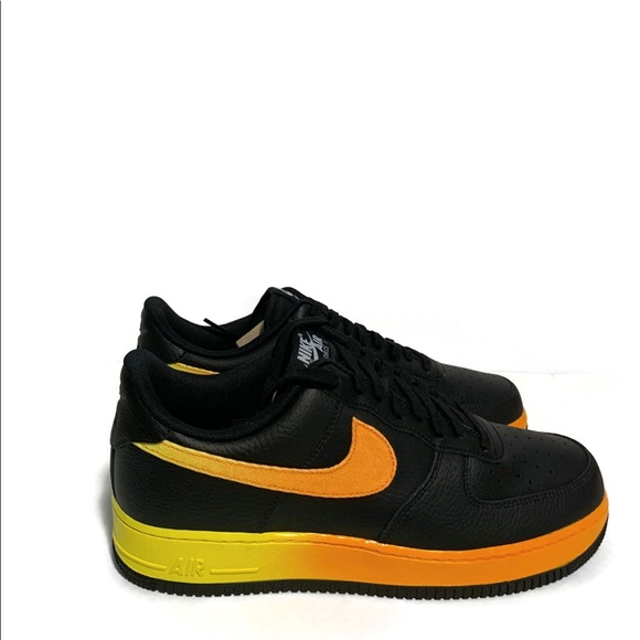 New NIKE Air Force 1 Low LV8 Athletic Sneakers Mens black orange yellow all size